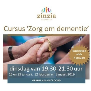 Cursus 'Zorg om dementie'